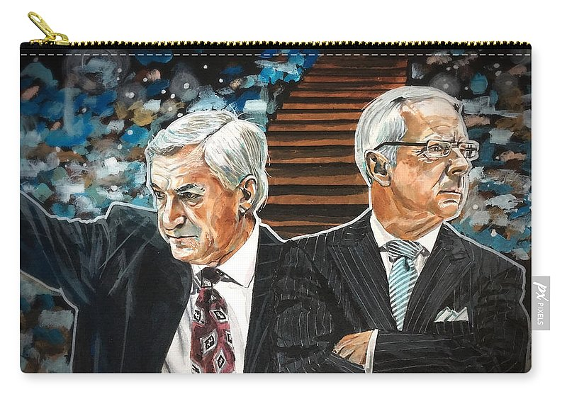 Unc Carry-all Pouch featuring the painting Dean And Roy by Joel Tesch