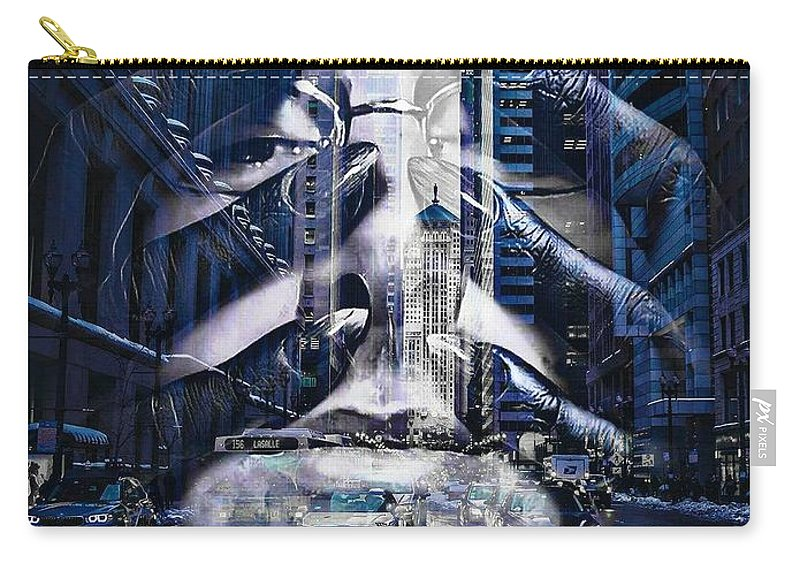 Carry-all Pouch featuring the digital art Deaths Grip by James Harris