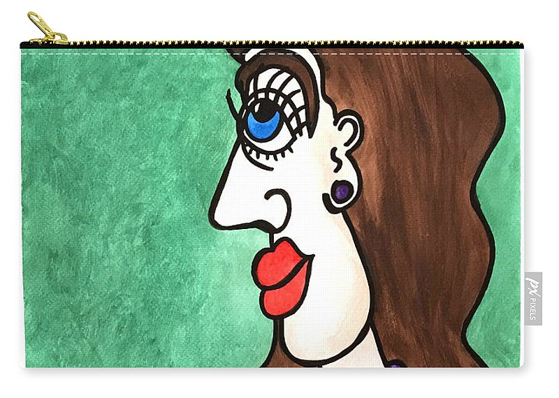 Woman Carry-all Pouch featuring the painting Deborah's Sister...  -  La Soeur De Deborah... by Fafard