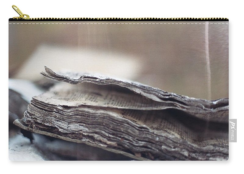 Landscape Carry-all Pouch featuring the photograph Decaying Book by Jamie Alicia Ary