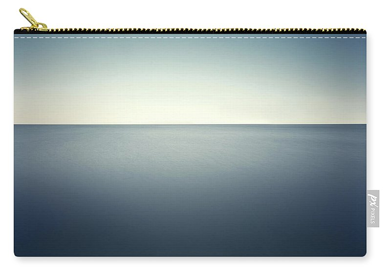 Scenics Carry-all Pouch featuring the photograph Deep Blue Sea by Ppampicture