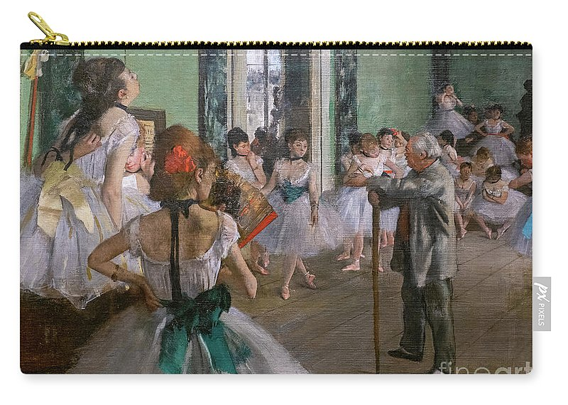Dance Carry-all Pouch featuring the painting Degas, The Dance Class Detail by Edgar Degas