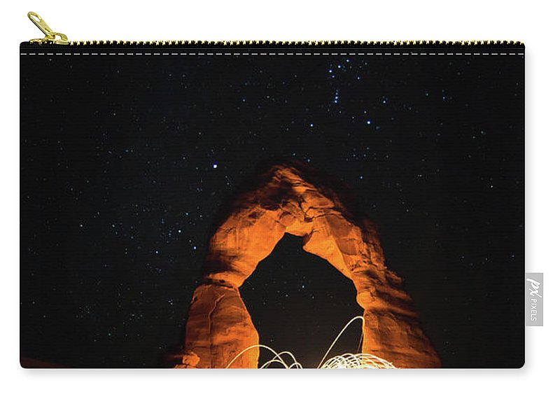 Delicate Arch Carry-all Pouch featuring the photograph Delicate Arch Steel Wool by Nathan Bush