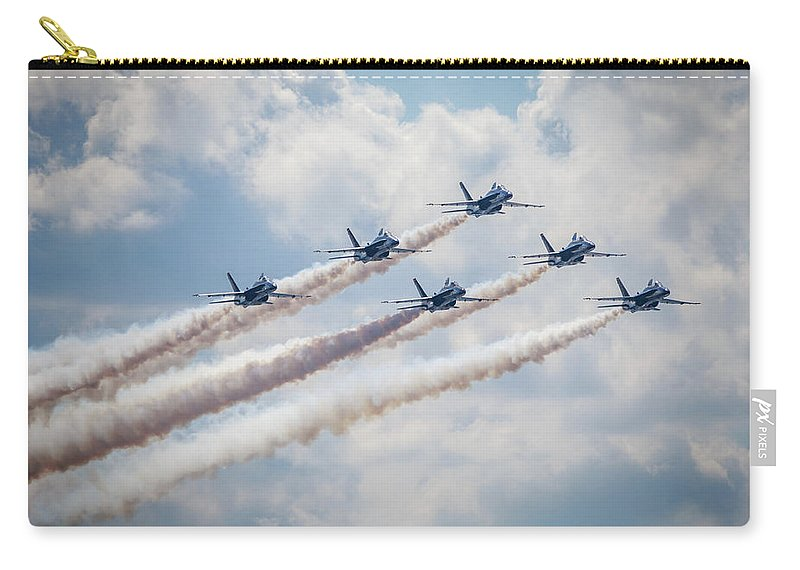 Blue Angels Carry-all Pouch featuring the photograph Delta Contrast by John Duffy