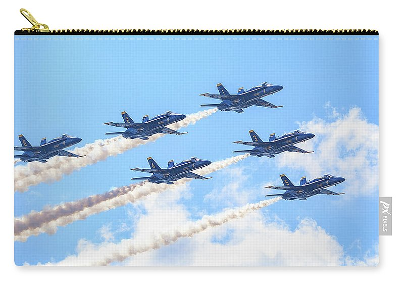 Blue Angels Carry-all Pouch featuring the photograph Delta Sun by John Duffy