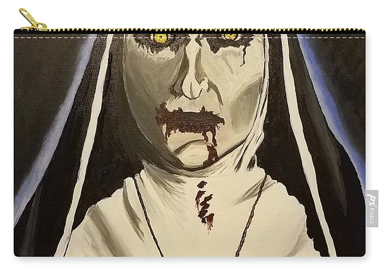 Demon Nun Carry-all Pouch featuring the painting Demon Nun by Brandy Sullivan