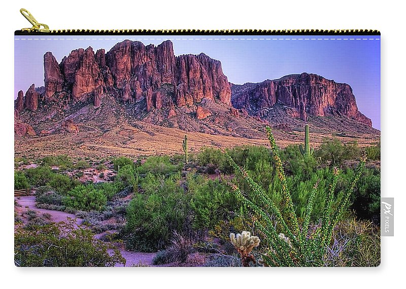 Tranquility Carry-all Pouch featuring the photograph Desert Trail by Patti Sullivan Schmidt