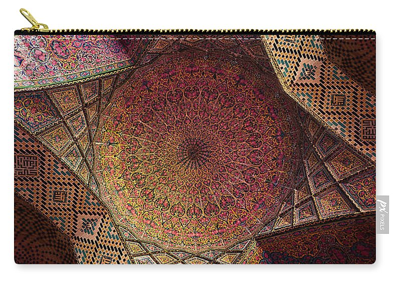 East Carry-all Pouch featuring the photograph Detail Of The Ceiling Tilework by Len4foto
