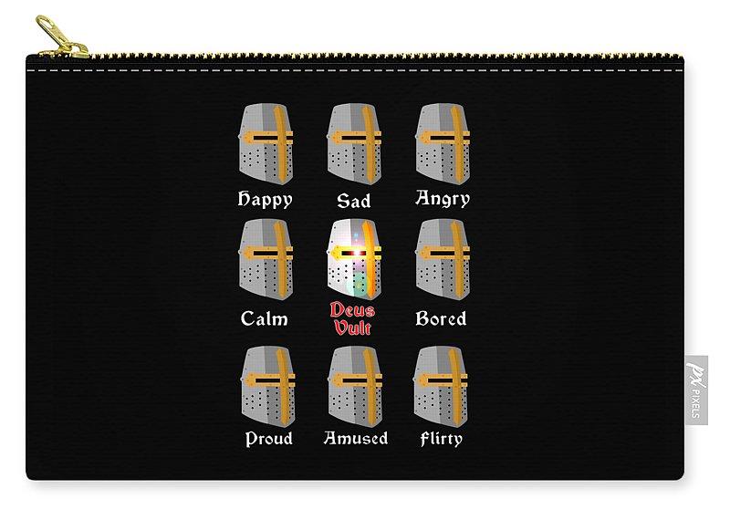 Deus Carry-all Pouch featuring the digital art Deus Vult by Elman Jones