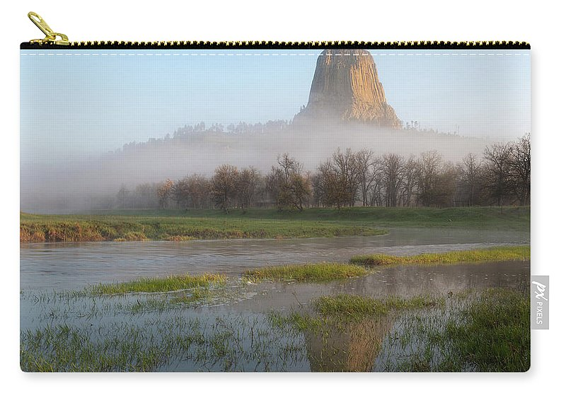 Cleveland Carry-all Pouch featuring the photograph Devil's Tower National Monument by Matt Shiffler