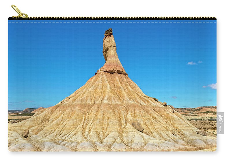 Bardenas Reales Carry-all Pouch featuring the photograph The Desert Of The Royal Bardenas by Vicen Photography