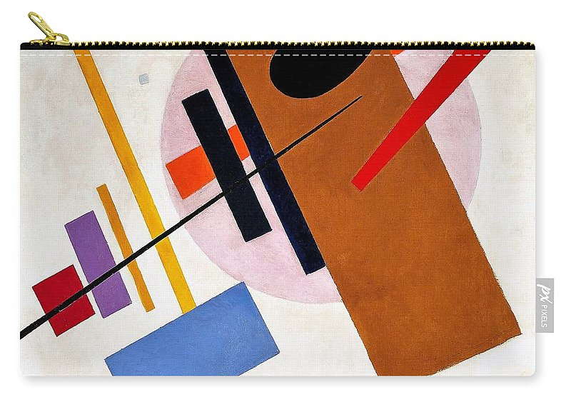 Suprematism Carry-all Pouch featuring the painting Digital Remastered Edition - Suprematism, No55 by Kazimir Severinovich Malevich