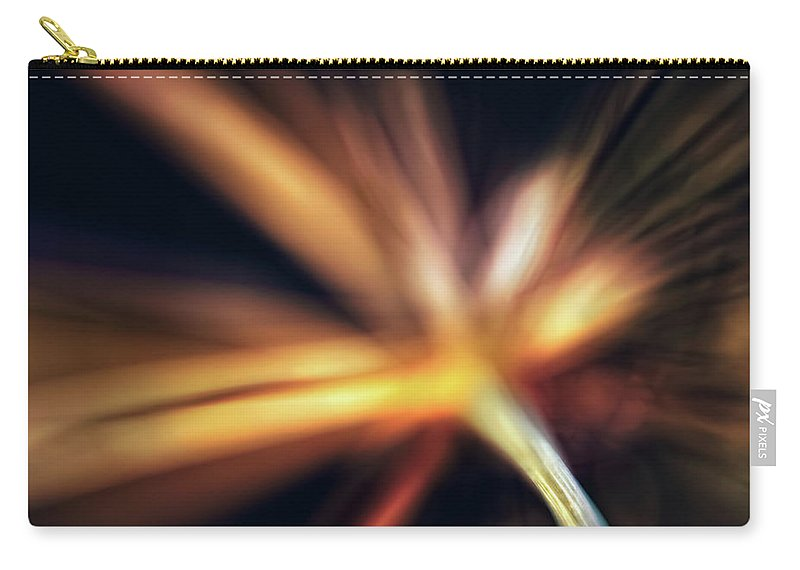 Flower Carry-all Pouch featuring the photograph Dill Flower Abstract by Scott Norris
