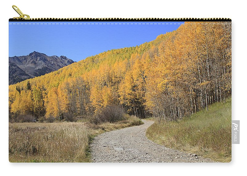 Scenics Carry-all Pouch featuring the photograph Dirt Road In The Elk Mountains, Colorado by John Kieffer