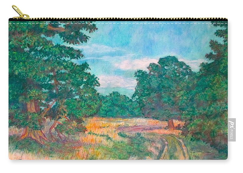 Landscape Carry-all Pouch featuring the painting Dirt Road Near Rock Castle Gorge by Kendall Kessler