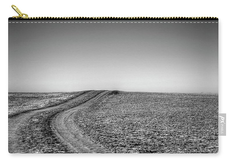 Scenics Carry-all Pouch featuring the photograph Dirt Road Over Frosted Pasture by Sindre Ellingsen