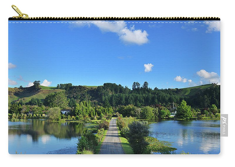 Outdoors Carry-all Pouch featuring the photograph Dirt Road by Raimund Linke