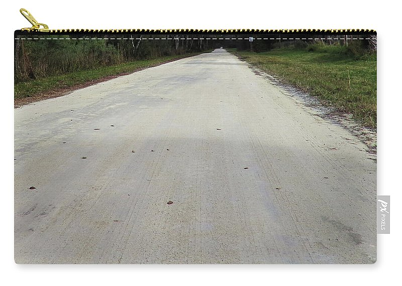 Dirt Carry-all Pouch featuring the photograph Dirt Road by Roger Epps