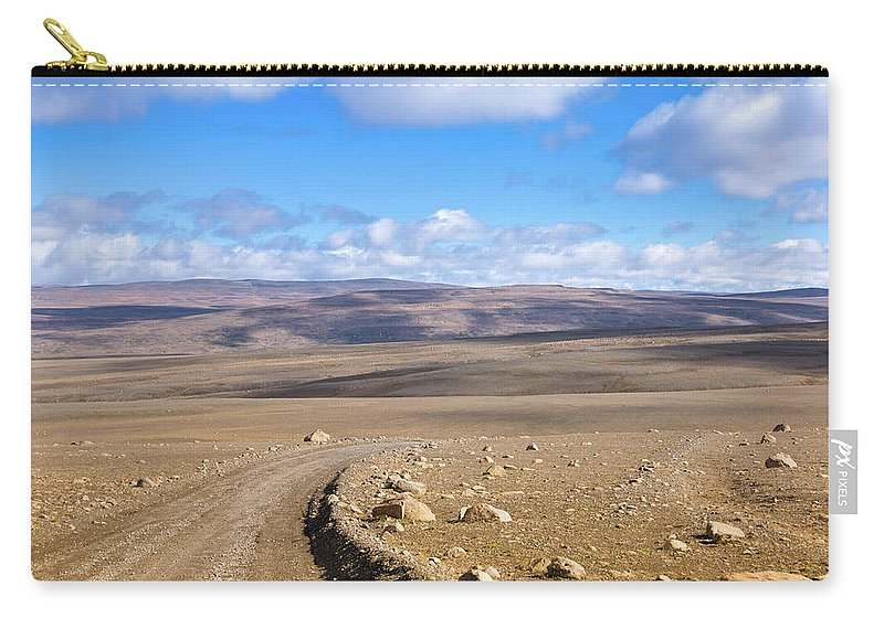 Scenics Carry-all Pouch featuring the photograph Dirt Road Sprengisandur Central Iceland by Mlenny