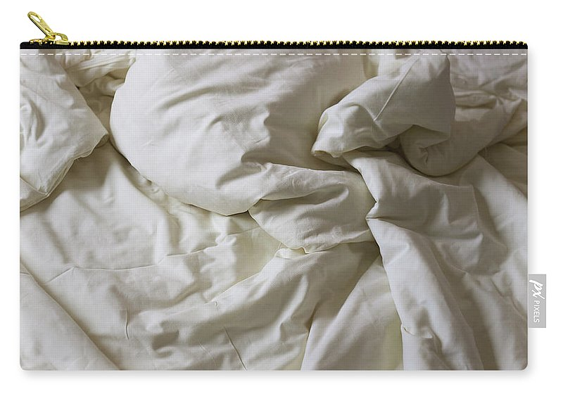 Hotel Carry-all Pouch featuring the photograph Discarded Bed, Early Morning by Julio Lopez Saguar