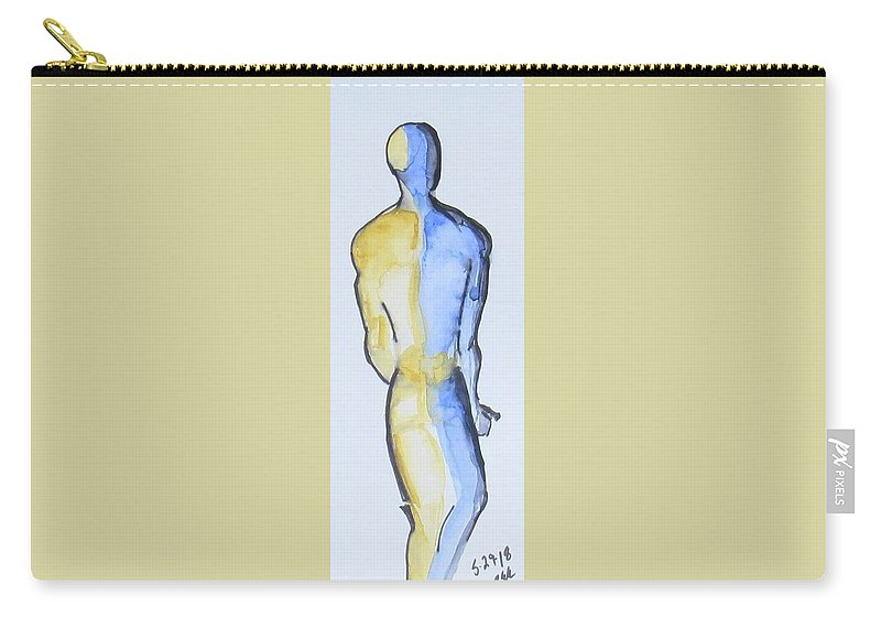 Watercolor On Hot Press Bristol Carry-all Pouch featuring the painting Divided by Bonnie Edmond