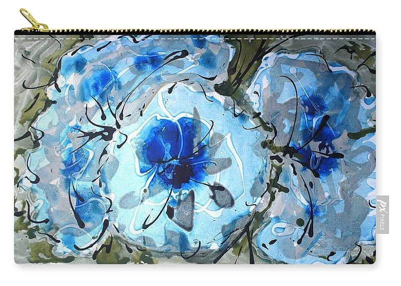 Carry-all Pouch featuring the painting Divineblooms22087 by Baljit Chadha