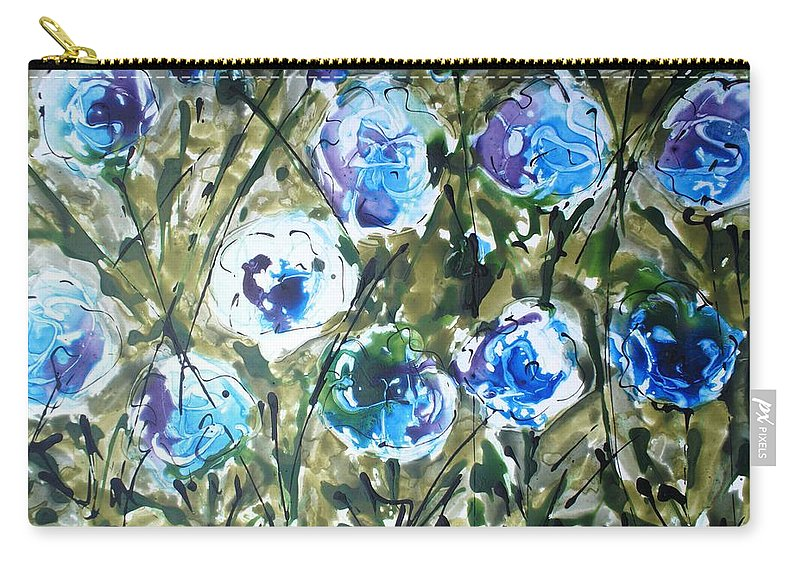 Carry-all Pouch featuring the painting Divineblooms22091 by Baljit Chadha