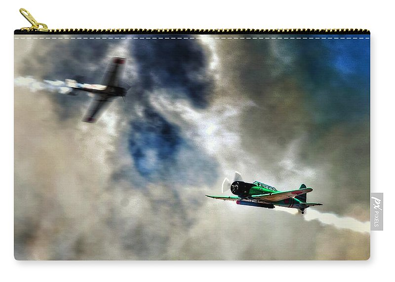 Warbird Carry-all Pouch featuring the photograph Dogfight by Ian McDonald