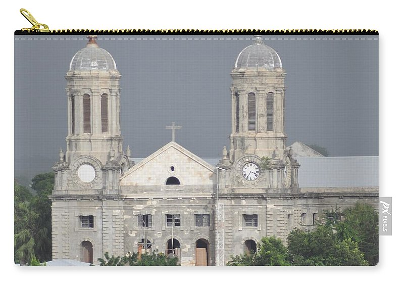 Building Carry-all Pouch featuring the photograph Domed Towers by John Hughes
