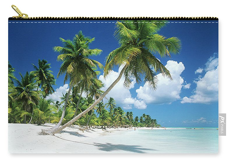 Scenics Carry-all Pouch featuring the photograph Dominican Republic, Saona Island, Palm by Stefano Stefani