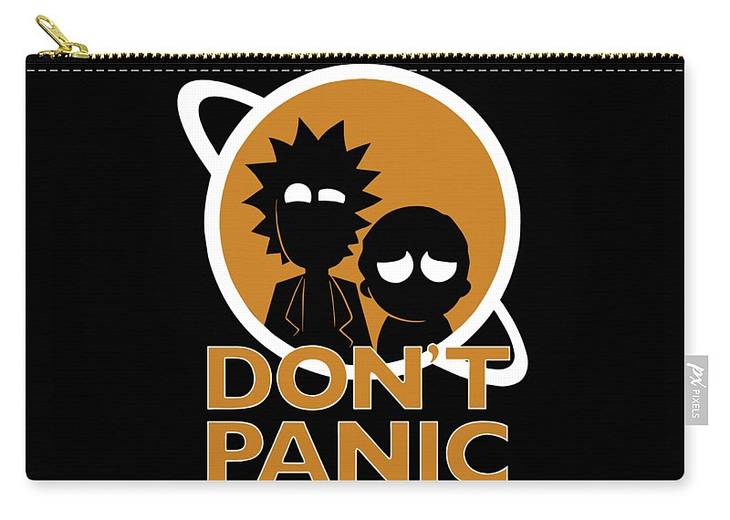Rick Carry-all Pouch featuring the glass art Don't Panic by Veranda Vee