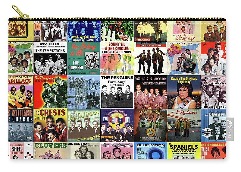 Album Covers Carry-all Pouch featuring the digital art Doo Wop Singers by Max Huber