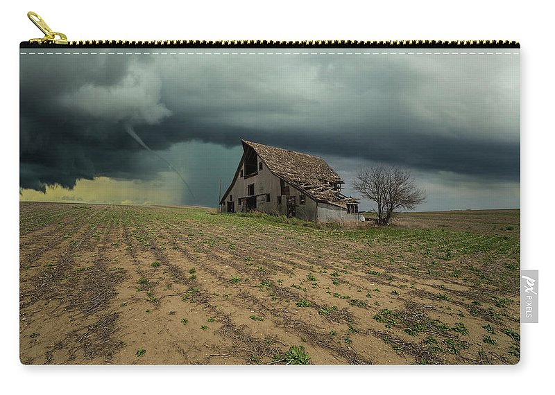 Tornado Carry-all Pouch featuring the photograph Doomsday by Aaron J Groen