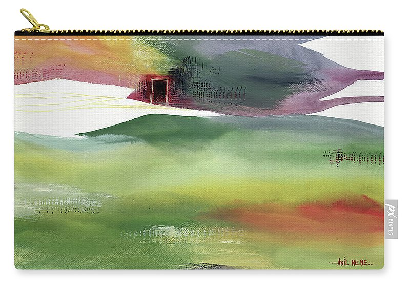 Nature Carry-all Pouch featuring the painting Door 4 by Anil Nene