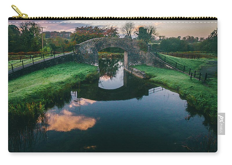 Grand Canal Carry-all Pouch featuring the photograph Downshire Bridge by Jeremy Simpson