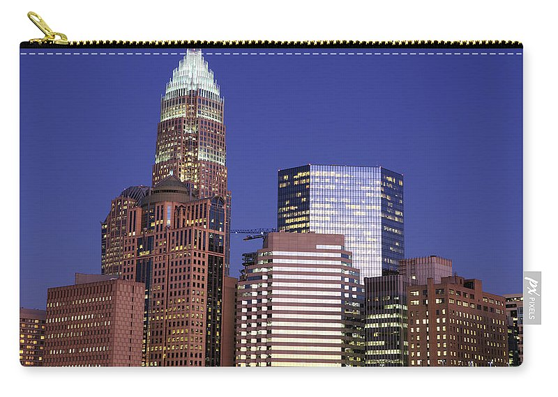 North Carolina Carry-all Pouch featuring the photograph Downtown Charlotte, Nc At Night by Jumper