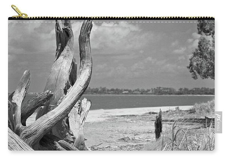 Driftwood Carry-all Pouch featuring the photograph Driftwood by Robert Meanor