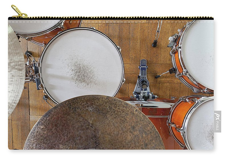 Berlin Carry-all Pouch featuring the photograph Drum Kit Arrangement by Halfdark