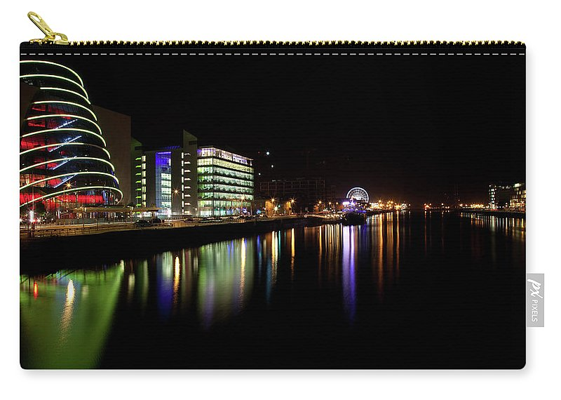 Dublin Carry-all Pouch featuring the photograph Dublin City Along Quays by Image By Daniel King