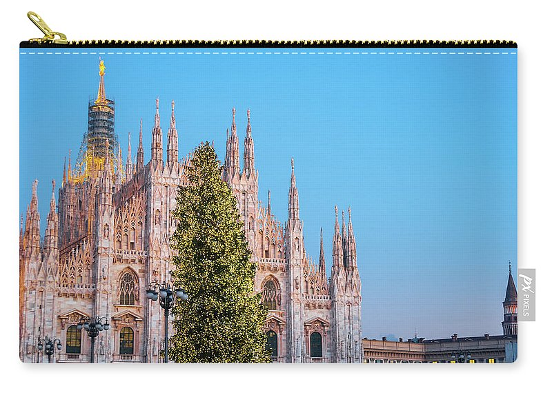 Gothic Style Carry-all Pouch featuring the photograph Duomo Di Milano At Christmas by Mmac72