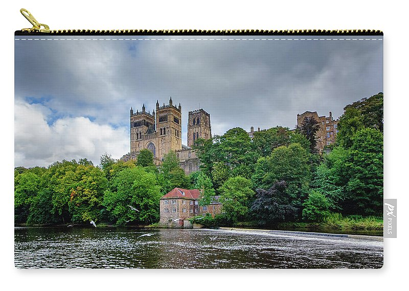 Durham Cathedral Carry-all Pouch featuring the mixed media Durham Cathedral by Smart Aviation