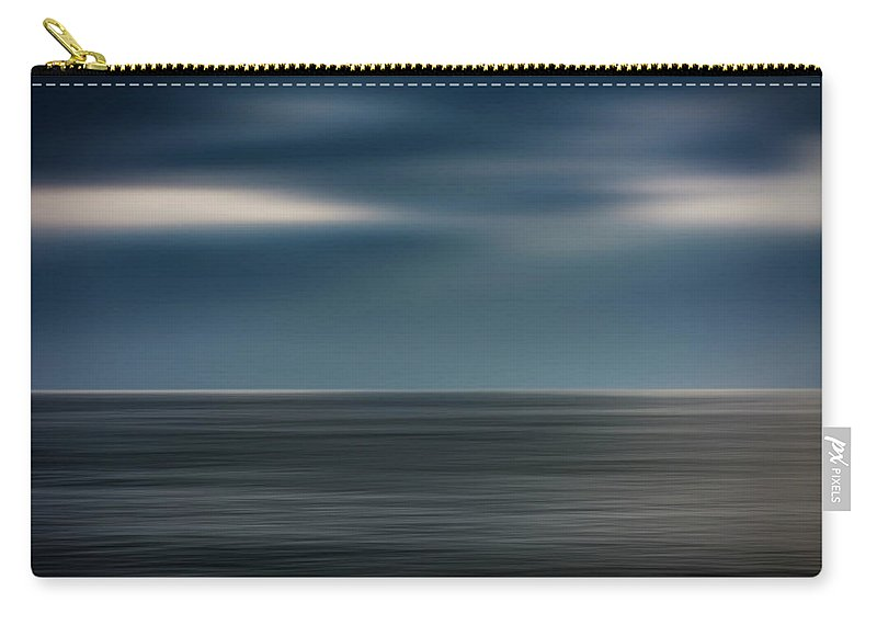 Photography Carry-all Pouch featuring the photograph Dusk Stormy At Sea by Vicente Sargues