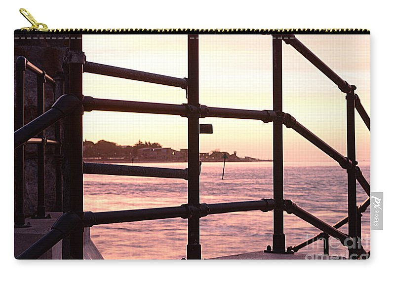 Railings Carry-all Pouch featuring the photograph Early Morning Railings by Andy Thompson