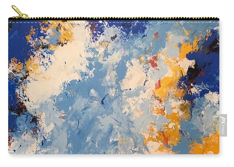 Acrylic Abstract Art Painting Carry-all Pouch featuring the painting Early Morning by Suzzanna Frank