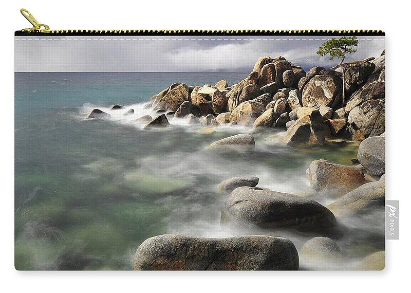 Tranquility Carry-all Pouch featuring the photograph East Shore, Lake Tahoe by Stevedunleavy.com