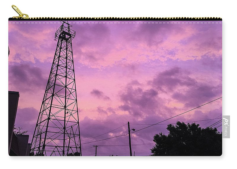 Texas Carry-all Pouch featuring the photograph East Texas Oil Derrick by Jason Cave