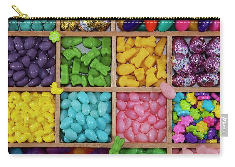 Unhealthy Eating Carry-all Pouch featuring the photograph Easter Candies by Lisa Stokes