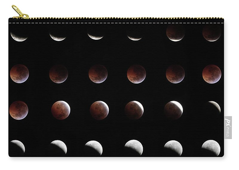 Event Carry-all Pouch featuring the photograph Eclipse, In All Phases Of The Moon by Arturogi