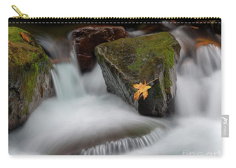 Cascades Carry-all Pouch featuring the photograph Edge Of The Torrent by Mike Dawson