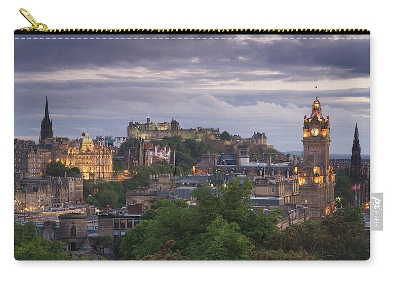 Lothian Carry-all Pouch featuring the photograph Edinburgh At Dusk by Northlightimages